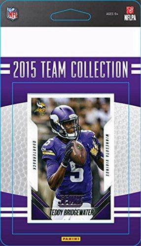 Minnesota Vikings Team Set - Minnesota Vikings 2015 Score Factory Sealed NFL Football Complete Mint 18 Card Team Set with Adrian Peterson Teddy Bridgewater Stefon Diggs Rookie Card Plus