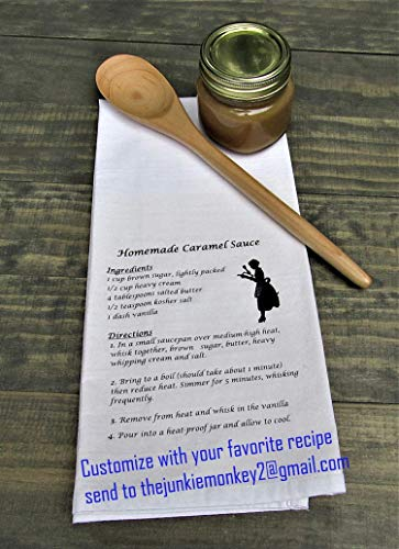 (Personalized Custom Recipe Kitchen Tea Towel - Kitchen Dish Towel)