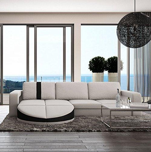 Muebles Bonitos Sofa de diseo moderno Rosa blanco con negro