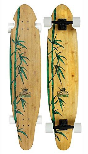 - Krown Krex 2 Bamboo Kicktail Complete Longboard, 9x43-Inch