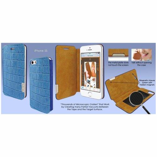 Piel Frama U639COB Krokodillederoptik FramaSlim Case für Apple iPhone 5/5S blau