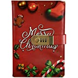 A5 Christmas Password Locking Journal Diary Combination Lock Journal Student Diary Password With Lock Line Loaded Diary Portable Creative Notepad (Red)