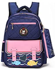 Kids School Bags Waterproof Backpack for Boys and Girls with Pencil Case, Stylish