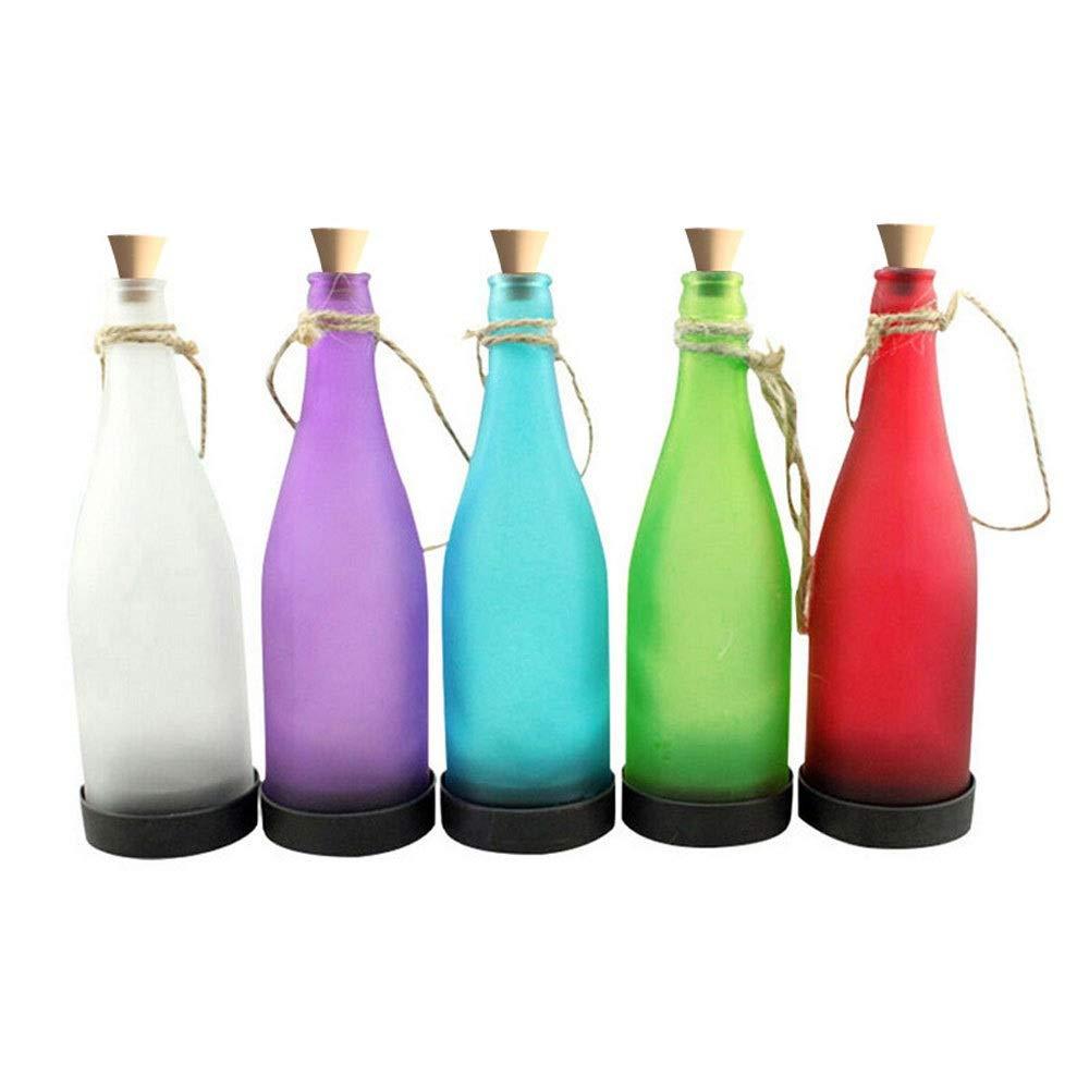 WMM- Garden light Solar Light - Led Water-Proof Outdoor Decoration Lights, Balcony Garden Wine Bottle Chandelier for Wedding, Party, Bar, Cafe, Christmas, Tree, Fence, etc. (Color : Warm Light)