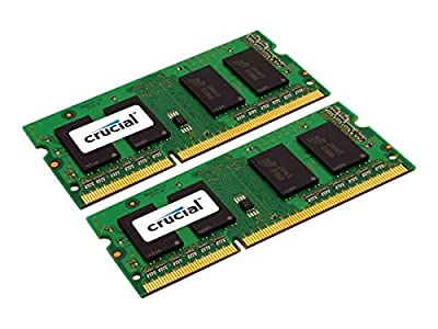 Crucial 16GB Kit (2 X 8GB) 1600 MT/s (PC3L-12800) 204-Pin SODIMM DDR3L Memory (CT2KIT102464BF160B) by Crucial