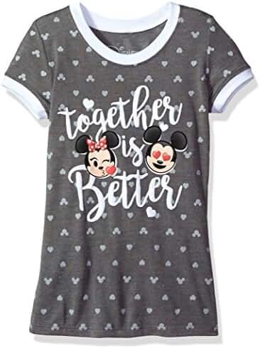 Disney Big Girls' Minnie and Mickey Hi Lo T-Shirt