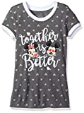 Kyпить Disney Big Girls' Minnie and Mickey Hi Lo T-Shirt, Charcoal, 10 на Amazon.com