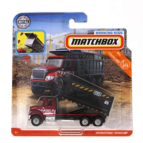 Matchbox Working Rigs International Workstar Road King Hauling Red Dump Truck