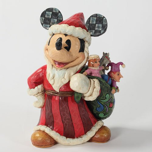 Enesco Disney Traditions by Jim Shore Old World St. Mick Figurine, (Vintage Christmas Figurine)