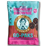 Goodie Girl Cookies Midnight Brownie Crunchy Double Chocolate Single Serving Individual Go-Paks Snack Pack Cookies, Peanut Free and Gluten Free Cookies (1oz Bags, Pack of 36)