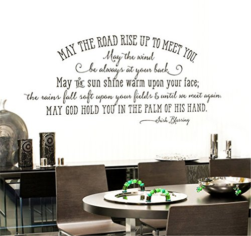 bngfvc May The Road Rise up to Meet You Irish Blessing Faithful Saying for Wall Motivational Wall Words Inspirational Wall Decal