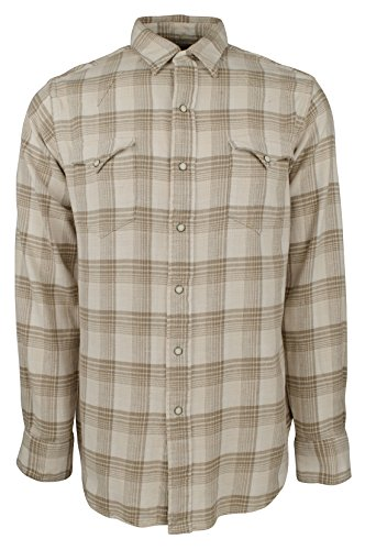 Polo Ralph Lauren Men's Plaid Western Long-Sleeve Woven Shirt-NT-L by Polo Ralph Lauren
