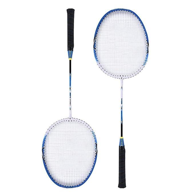 Carrying Bag Included Double Badminton Rackets Durable Aluminium Alloy Badminton Racket Liukouu 2 Player Badminton Racquets