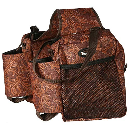 (Tough-1 Printed Saddle Bag Brown Tooled)