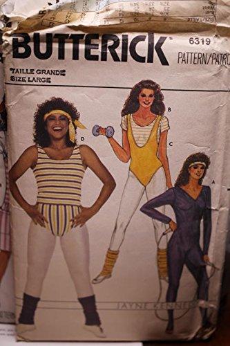 Vintage Butterick Pattern 6319 Sz large Misses' Bodysuit, Top & Briefs UNCUT FF
