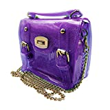 Mily Girls Transparent Candy Color Jelly Shoulder Bag Tote Clear Beach Swim Handbag Purple