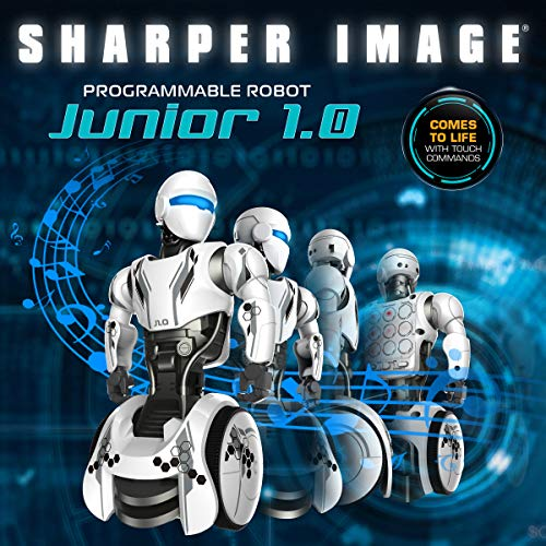 Sharper Image RC Humanoid OP One Robot, Cool Sci-Fi Android with Moving Arms and Gripping Hands, Dances, Plays, Performs, Spy Mode, Voice, Wireless Control, Full Directional Movement, Battery Power by Sharper Image (Image #1)