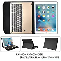 IVSO Apple iPad Pro 12.9 Case With Keyboard Ultra-Thin Aluminum Bluetooth Keyboard Stand Case / Cover for Apple iPad Pro 12.9-inch 2015 Version Tablet