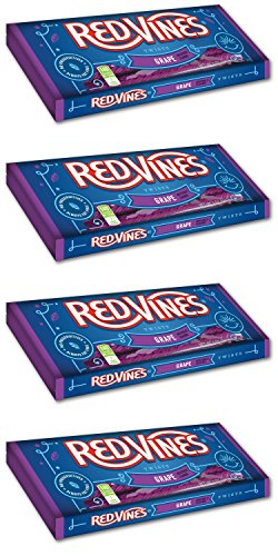 Red Vines Licorice Twists 5 oz Tray (Pack of 4) (Grape) ()