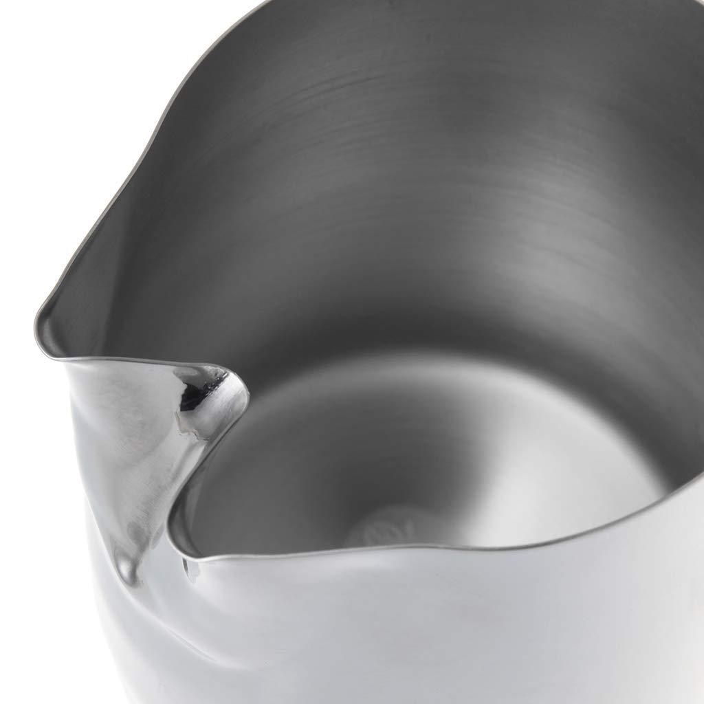ZHENXI Stainless Steel Twin Spout Milk Frothing Jug Espresso Coffee Pitcher 800ml