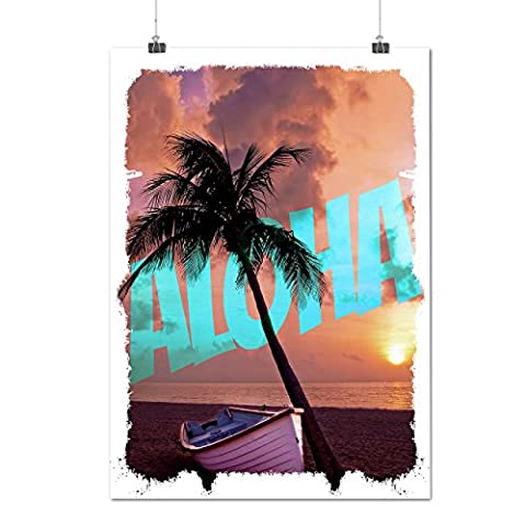 Aloha Palm Summer Holiday Holiday Fun Matte/Glossy Poster A3 (12x17 inches) | Wellcoda (Aloha Island Resort)