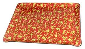 Bandeja Manufaktur/bandeja de acrílico con forro de tela/osman adornos/rectangular aprox 20 x 14 x 2,5 cm