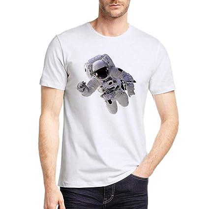 Hombre camiseta T-shirt manga corta,Sonnena ❤ Camiseta casual para hombre Astronauta