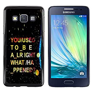 EJOY---Cubierta de la caja de protección la piel dura para el / Samsung Galaxy A3 / --Psychedelic Guión