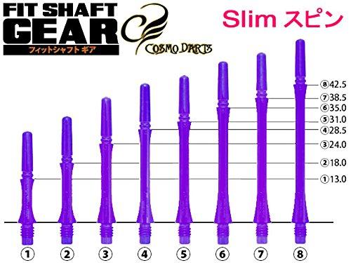 コスモダーツ Fitシャフト GEAR Sスピン/クリアパープル ダーツシャフト DARTS SHAFT 4