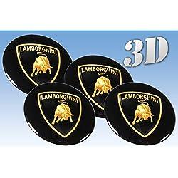 Wheel stickers Lamborghini imitation all size Centre Cap Logo Badge Wheel Trims 3d (50mm.)