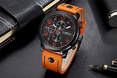 0d79858aba3 Relógio Masculino Original Curren Pulseira De Couro Militar  Amazon.com.br   Amazon Moda