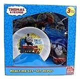 Thomas The Train 3 Pieces Plate, Bowl & Tumbler Mealtime Set