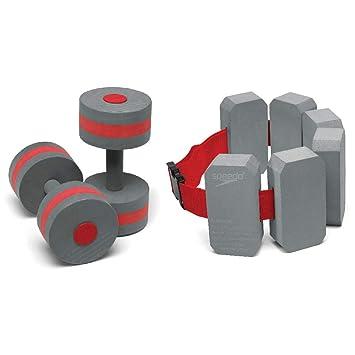 Speedo Aqua Fitness pesas y cinturón Combo - 753648-071, Gris/Rojo: Amazon.es: Deportes y aire libre