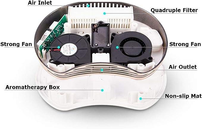 Modenny 5V Ion Negativo Purificador de Aire del Coche Ambientador Eléctrico Coche Ionizador Automibile Desodorante Esterilización Formaldehído PM2.5 Purificador: Amazon.es: Hogar