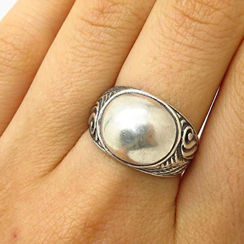 - VTG 925 Sterling Silver Ornate Cigar Band Design Ring Size 7 3/4 Jewelry by Wholesale Charms