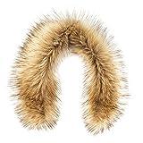Cheap Futrzane Trim Hood Faux Fake Fur Hood Winter for Jacket Ski Collar Wrap Shawl (S, Siberian Wolf)