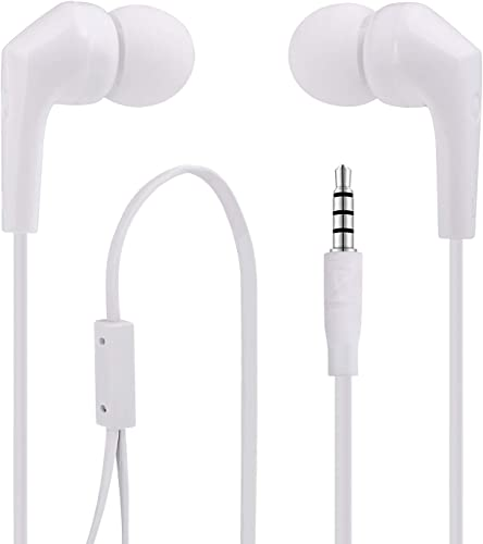 Earphones Headphones, MAS CARNEY MT826 in-Ear Earbud with mic High Definition Noise Isolating Tangle Free with Pure Sound and Powerful Bass for All 3.5mm Music Device.