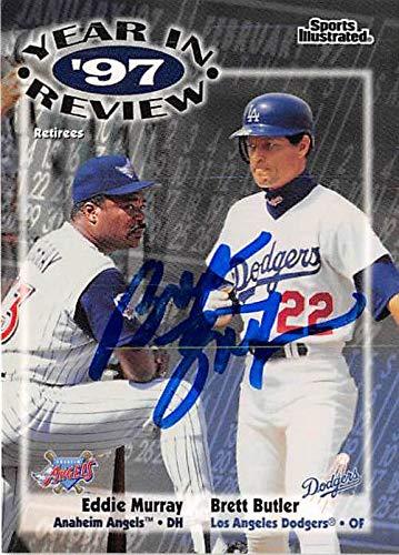 Brett Butler Autographed Baseball Card Los Angeles Dodgers