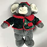 Dan Dee Plush Mouse Large 20' Stuffed Christmas Jacket Hat Candy Cane Buttons