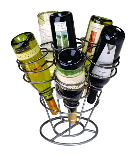 (Oenophilia Bottle Bouquet Wine Rack, Gun Metal - 6 Bottle)