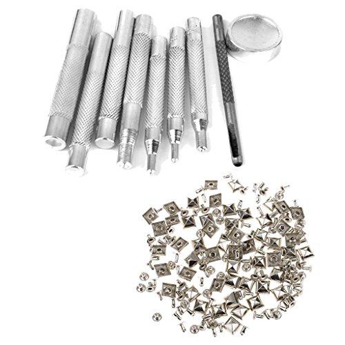 Fityle 約50個 金属製 パンチ パンチャー ボタン打ち付け ツール 浜 スタッド の商品画像