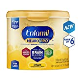 Enfamil NeuroPro Baby Formula-Omega 3 DHA, Non-GMO, MFGM, Probiotics, Iron & Immune Support Milk Powder Reusable Tub 20.7oz. (6 Pack)-Brain Building Nutrition Inspired by Breast Milk(Package May Vary)