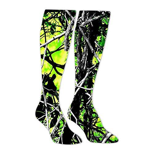 Moonshine Toxic Camo Green Athletic Socks Knee High Socks For Men&Women Warmer Stockings Tube Long Stockings Casual Socks