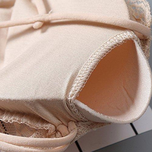 Larga Sexy Mujeres Ropa Tentación Especias Camisón Interior Moda De Babydoll Vpass Dormir Cinturón Beige Navidad Piel Arco Traje Mullido q0BHw4xAA