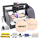 2-in-1 Upgrade 3018 Pro-M CNC Router Kit, 15W CNC Engraving Machine GRBL Control 3 Axis PCB Milling Machine, Wood Router Engraver with Offline Controller (Tamaño: 15W)