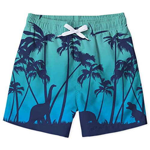 Enlifety Cool Boys Swim Shorts 3D Dinosaur Print Bathingsuits Drawstring Waist Slim-Fit Boardshort for Party Holiday 8-9 Years]()