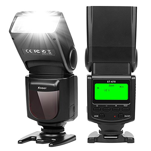 SHOOT Electronic Flash Speedlite XT-670 Universal On-Camera GN35 ISO100 for Digital Cameras with Standard Hot Shoe
