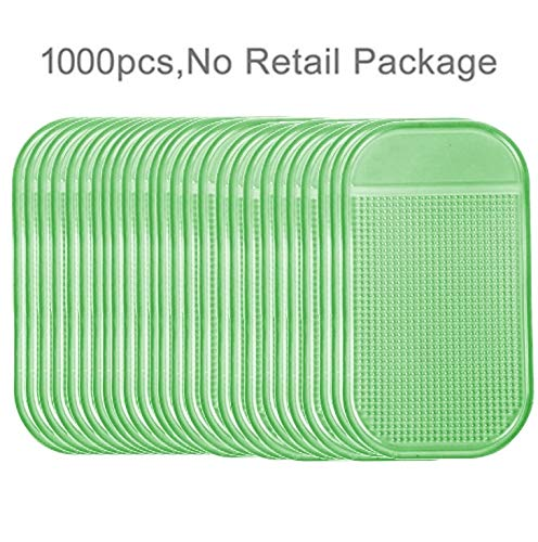 QingBo Phone Holder 1000 PCS Car Anti-Slip Mat Super Sticky Pad for Phone/GPS/ MP4/ MP3 (LightGreen) by QingBo-US