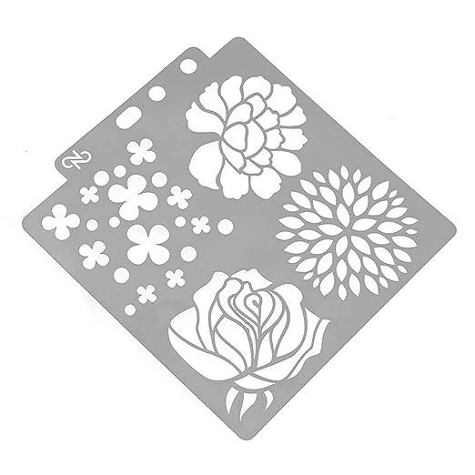 Diario Plantilla de pl/ástico Multifuncional Tarjetas y proyectos DIY Craft Diario para Dibujar Kalttoy Scrapbooking Plantillas de Dibujo para Diario Diario Regla para Diario
