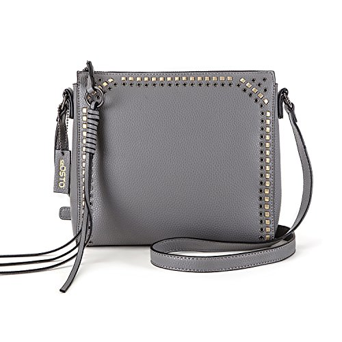 - seOSTO Medium Crossbody Bags for Women, Shoulder Bag with Tassel Crossbody Purse Multi Pocket Bags(Grey)